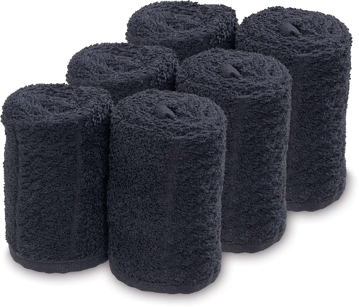 Barburys Take Care Handtücher-Gesichtstücher 6 Stk / Schwarz SN-3500262
