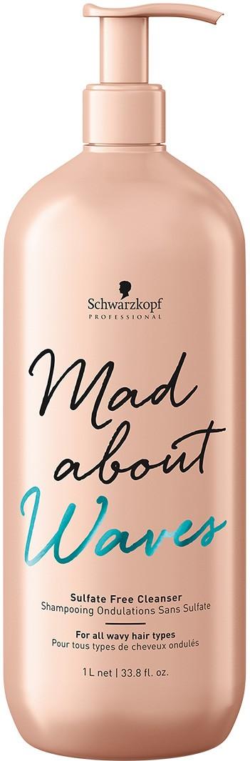 Schwarzkopf Mad About Waves Sulfatfreies Shampoo 1000 ml 2229580