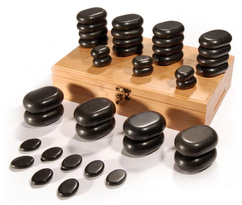 Sibel Hot Stone Massagestein-Set mit 36 Basaltsteine SN-7520010