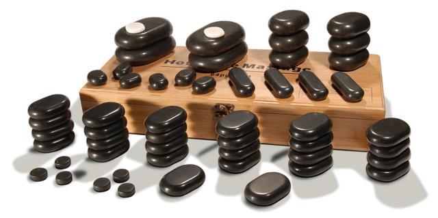 Sibel Hot Stone Massagestein-Set mit 54 Basaltsteine SN-7520011